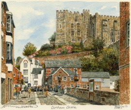 Durham Castle from Framwellgate Bridge Print by Cambrooke