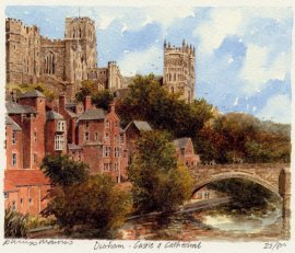 Durham Cathedral & Castle Print by Cambrooke