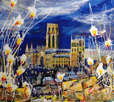Durham Cathedral from Wharton Park Print by Jenny Ulyatt