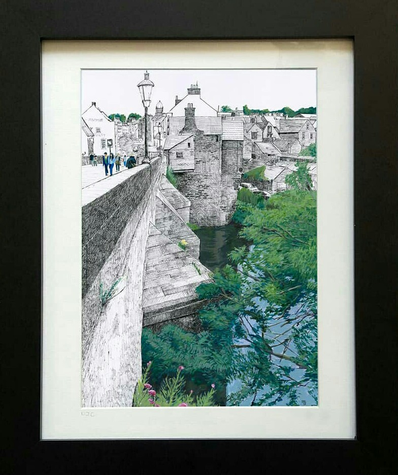 Elvet Bridge Print by Darren Cairney
