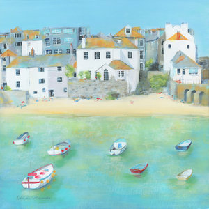 Still Waters Greetings Card by Linda Vine